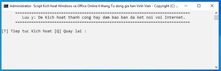 Crack Win 10 bằng CMD Activate AIO Tool 4